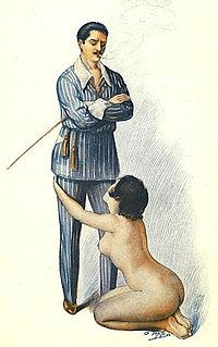 clothed male, naked female shows an example of female submission