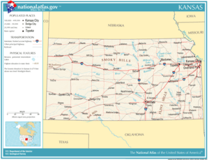 Map of the Kansas road system.