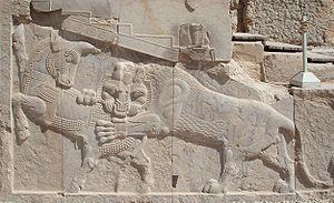 Bas-relief in Persepolis - a symbol Zoroastria...