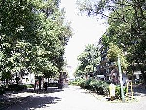 Plaza Río de Janeiro en la Colonia Roma, Ciuda...