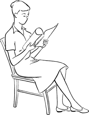 English: 3. Sit well back in chair with body i...