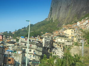 Rocinha, a slum in Rio de Janeiro, Brasil.