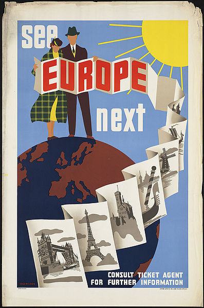Vintage travel posters inspiring vacations to Europe