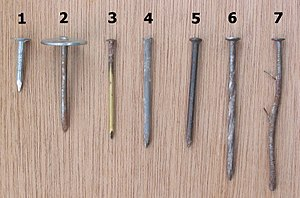 Nails – 1=asphalt nail; 2=asphalt nail with br...