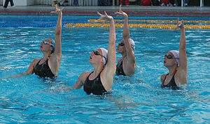 Russian world champion synchronized swimming t...