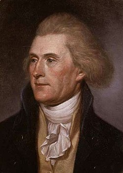 Jefferson portrait by Charles Willson Peale