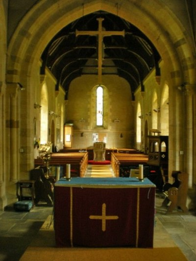 The Minster and Parish Church of Saint Mary and The Holy Cross, Alderminster, Altar. Interior
