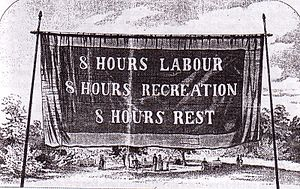 Eight Hour Day Banner, Melbourne, 1856