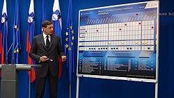Borut Pahor presenting his government's reform program.