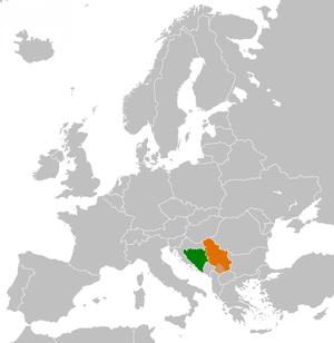 English: Location of Bosnia and Herzegovina ma...
