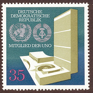 Stamp Deutsch: Briefmarke: Deutsche Demokratis...
