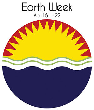 English: Official Earth Week logo from 1970
