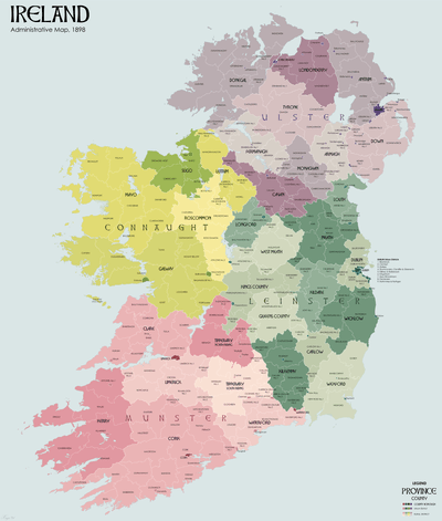 Local Government  Ireland  Act 1898   Wikipedia County and county borough boundaries edit