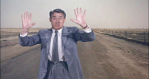 """Cary Grant as Roger O. Thornhill in """"Nort..."""