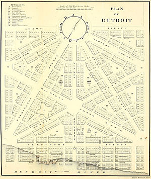 Augustus Woodward's plan following the 1805 fi...