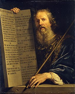 Philippe de Champaigne - Moses with the Ten Commandments - WGA04717