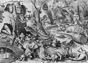 Pieter Bruegel the Elder - Gula (Gluttony) - W...