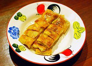 Roti kluai khai is Thai for a roti with banana...