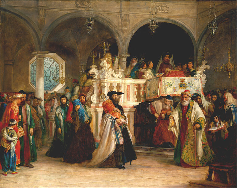 File:Solomon Alexander Hart - The Feast of the Rejoicing of the Law at the Synagogue in Leghorn, Italy - Google Art Project.jpg