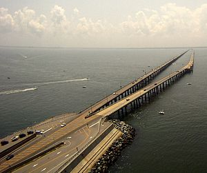 English: The Chesapeake Bay Bridge-Tunnel Fran...