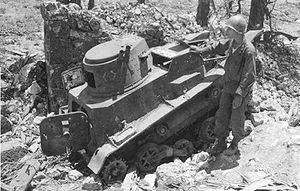 Type 94 TK tankette captured at Battle of Okinawa