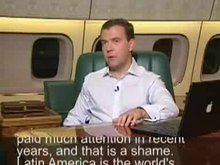 Medvedev videoblog posted after his visit to Latin America in November 2008