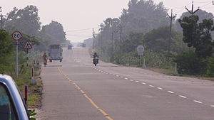 East Coast Road from Chennai to Mahabalipuram