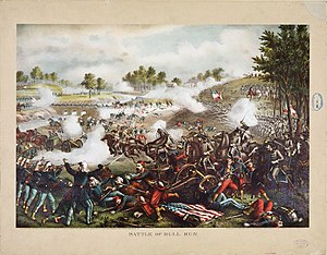 English: First Battle of Bull Run, chromolitho...
