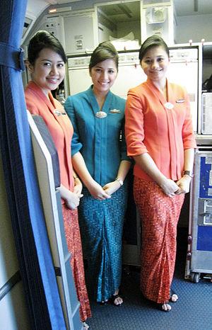 The new Garuda Indonesia flight attendants' un...