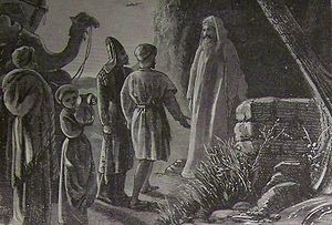 Balaam receiving Balak's messengers, as in Num...