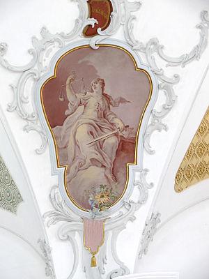 Deckengemälde Justitia Pfarrkirche St. Oswald,...