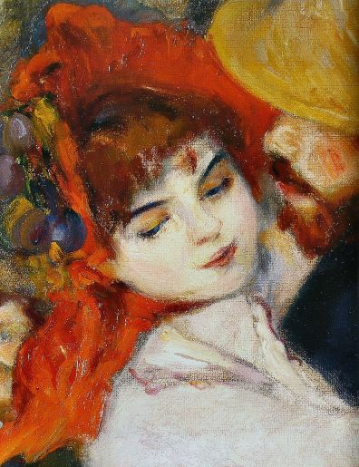 Pierre-Auguste Renoir - Suzanne Valadon - Dance at Bougival - Detail