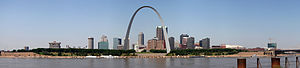 Panorama of St. Louis, Missouri, United States