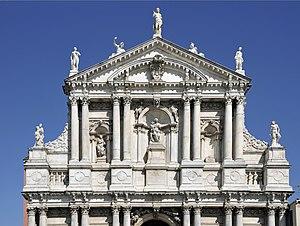 Madonna by Bernardo Falconi on the church Mari...