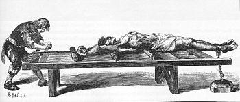 Medieval torture rack