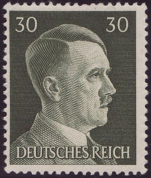 Deutsch: Briefmarke aus dem Jahr 1941, 30 Pfen...