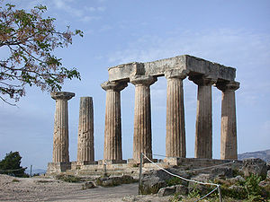 Ancient Corinth, Apollo temple