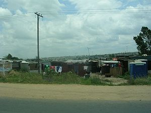 English: An informal township in Diepsloot, Ga...