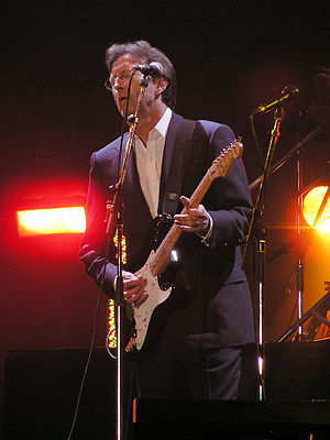 Eric Clapton at the Tsunami Relief concert in ...