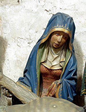 Deutsch: Maria, Mutter Jesu, Figur einer Grabl...