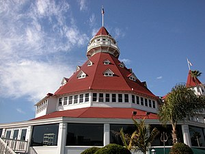Main building of the Hotel del Coronado. Camer...