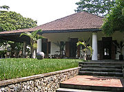 Javanese and neo-classical Indo-European hybrid villa. Note the Javanese roof form and general similarities with the Javanese cottage (pictured above).