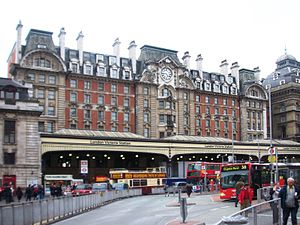 London Victoria station, London, England.