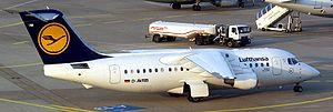 Avro RJ85 (D-AVRB) of Lufthansa at Düsseldorf