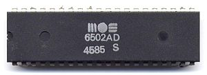 MOS 6502 microprocessor in a dual in-line pack...