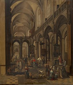 Peeter Neeffs (I) - Interior of a Flemish Church - WGA16477