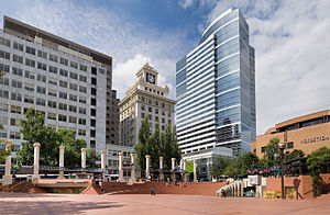 Pioneer Courthouse Square in Portland, Oregon....