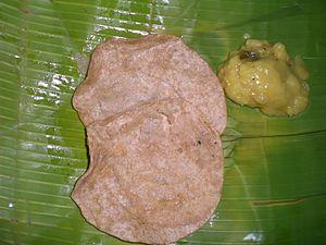 English: Poori & Potato Masala