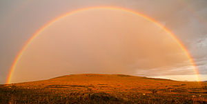 English: A beautiful rainbow in the conservanc...