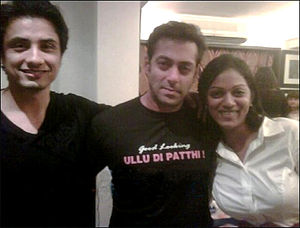 English: Salman Khan at the private screening ...